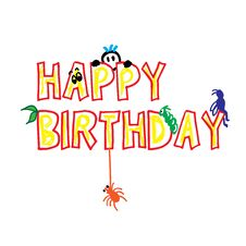 Free Happy Birthday Cute Word Royalty Free Stock Photo - 17329835
