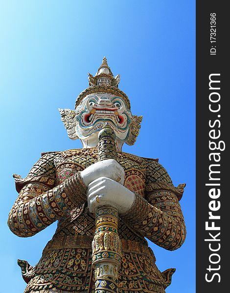 Giant Garuda Sculpture in Thai temple