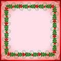 Free Pink Frame With Leafs And Berries Stock Photo - 17330770