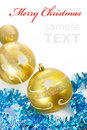 Free Yellow Christmas Decorations Royalty Free Stock Photo - 17332215