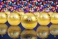 Free Golden Christmas Decoration Balls Stock Images - 17332334