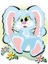 Free Blue Bunny Stock Image - 17334331