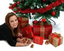 Free Christmas Girl Royalty Free Stock Photo - 17330145