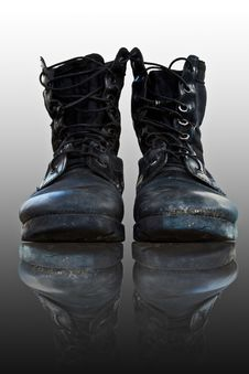 Free Shoes,combat Shoes Stock Photos - 17330303