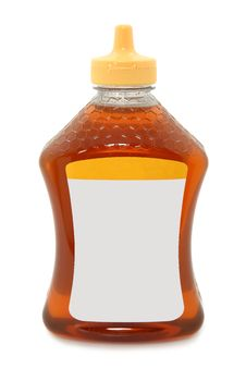 Free Isolated Honey Bottle On White Background Stock Photos - 17330383