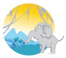 Free Jungle Elephant Stock Images - 17330704