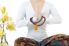 Free Girl Meditating Stock Images - 17330904