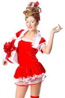Free Girl Christmas Stock Photography - 17330962