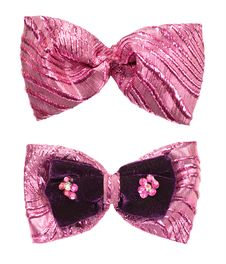 Free Pink Shine Bow Tie Isolated Royalty Free Stock Images - 17332079