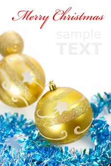 Yellow Christmas Decorations Royalty Free Stock Photo