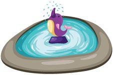 Free Dolphin Fountain Stock Photo - 17332290