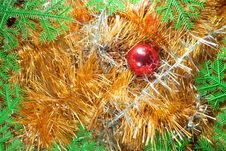 Free Frame From Christmas Ornaments Royalty Free Stock Photos - 17332638