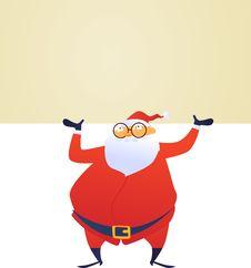 Free Santa And Banner Stock Photos - 17334083