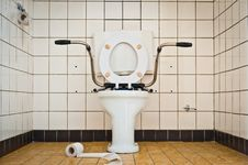 Free Empty Hospital Toilet Royalty Free Stock Image - 17334696