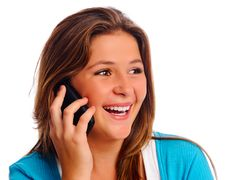 Free Pretty Teen On Phone Royalty Free Stock Images - 17334869