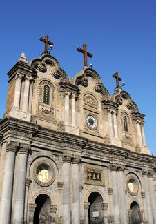 Free Catholic Church In Xian China Stock Photos - 17334983