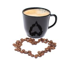 Free Coffee Heart Stock Photo - 17335160