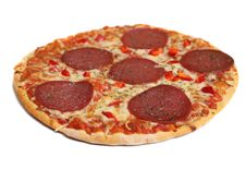 Free Pizza Salami Stock Photo - 17335260