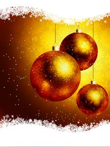 Free Elegant Gold Christmas Card. EPS 8 Royalty Free Stock Photo - 17335395