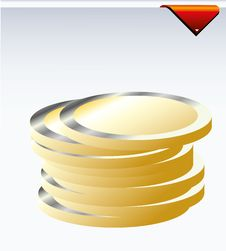 Free Coins Royalty Free Stock Photography - 17335427
