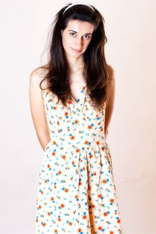 Free Beauty Woman In Sweet Dress Stock Images - 17335714