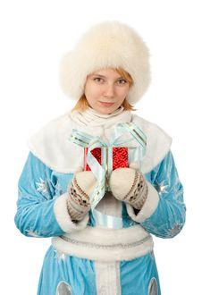 Free Snow Maiden Smiling Girl Stock Photo - 17336490