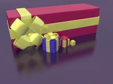 Free Rendered Of Presents Royalty Free Stock Photos - 17336498