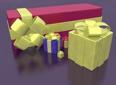 Free Rendered Of Presents Stock Photography - 17336512