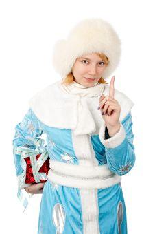 Free Christmas Woman Stock Photo - 17336530