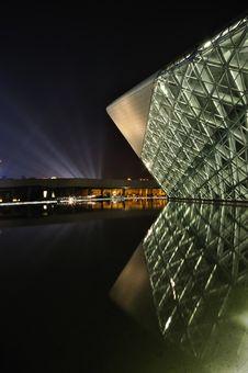 Free Night Scene Of Guangzhou Opera Royalty Free Stock Photo - 17336685