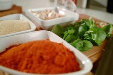 Free Basil Curry And Garlic - Mediterranean Taste Royalty Free Stock Photos - 17336858