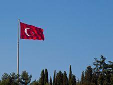 Free Turkish Flag Royalty Free Stock Photo - 17337265