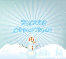 Free Snowman Illustration Royalty Free Stock Images - 17337399