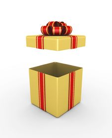 Gift Box - 3d Render Stock Images