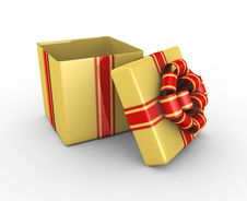 Free Gift Box - 3d Render Royalty Free Stock Image - 17337466