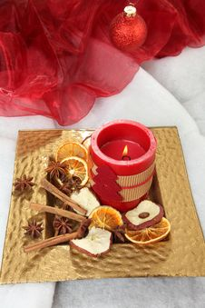 Free Christmas Candle Royalty Free Stock Images - 17337629