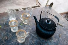 Free Tea Pot And Cups Stock Image - 17337751