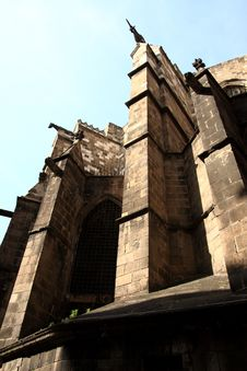 Free Barcelona.Fragment Of A Gothic Cathedral. Stock Photography - 17337752