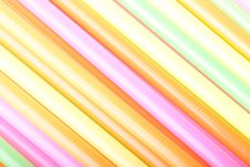 Macro Of Cocktail Straws Royalty Free Stock Photos