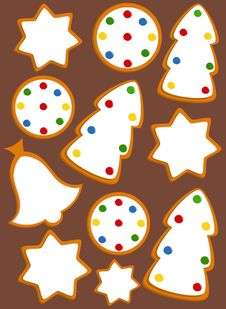 Free Gingerbread Background Royalty Free Stock Photo - 17338195