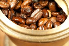 Free Coffee Beans In The Coffee Grinder Royalty Free Stock Photography - 17338377
