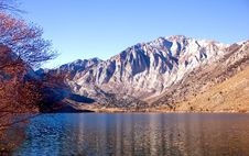 Free Scenic View Of A Mountain And Lake Stock Photography - 17338472