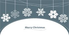 Merry Christmas Greeting Card Royalty Free Stock Image