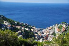 Free Italy - Liguria - Cinque Terre - Riomaggiore Up Vi Stock Photography - 17339142