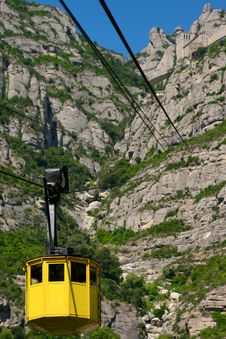 Free Cable Car Lift At Montserrat Royalty Free Stock Photography - 17339437