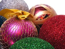 Free Color Toys For Christmas Tree Royalty Free Stock Image - 17339796