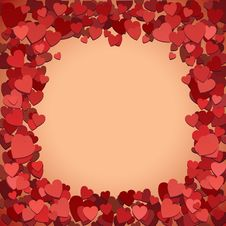 Free Romantic Background With Hearts Stock Photos - 17339803