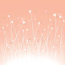 Free Romantic Background With Hearts Royalty Free Stock Photography - 17339847