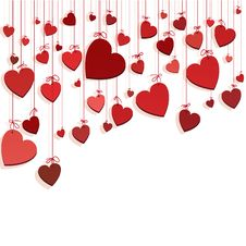 Free Romantic Background With Hearts Stock Photo - 17339870