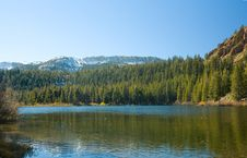Free Scenic View Of A Mountain And Lake Stock Photography - 17339942